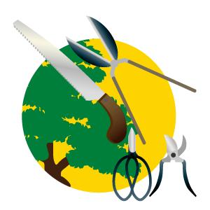 植木職人の道具